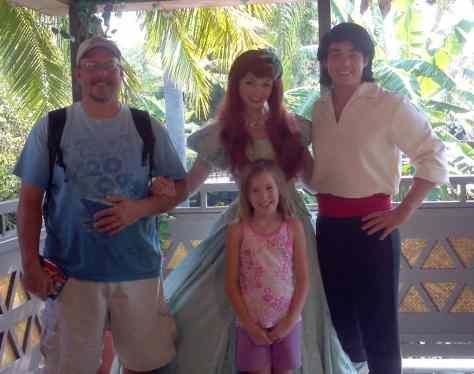 Eric with Ariel in Magic Kingdom 2012