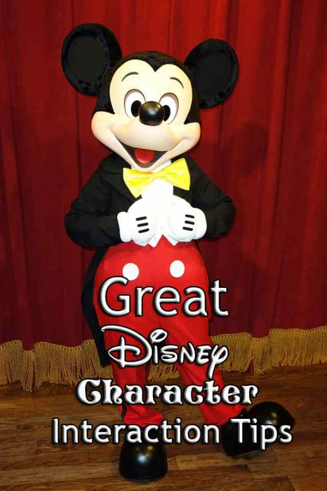 disney character interaction tips ideas