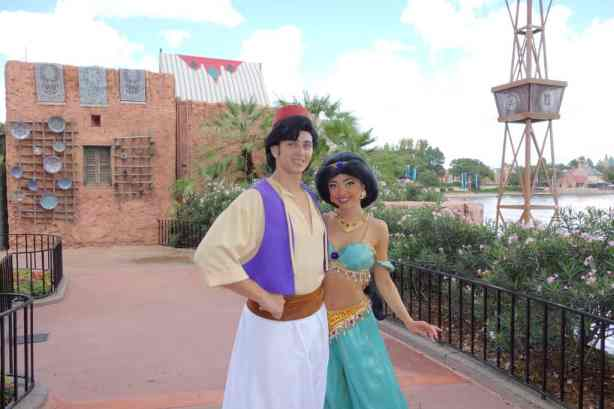 Aladdin and Jasmine at Morocco in EPCOT 2012