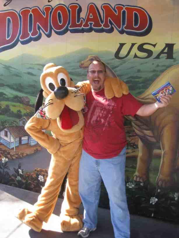 Pluto at Dinoland in Animal Kingdom 2010