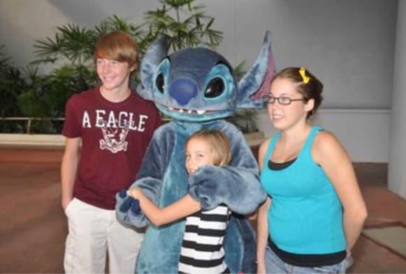 Stitch in Epcot 2012
