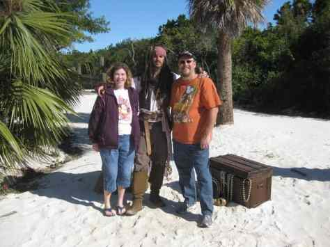 Jack Sparrow on Castaway Cay 2011