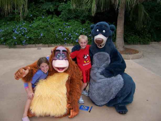 Baloo and Louie Animal Kingdom 2006