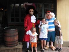 Walt Disney World, Magic Kingdom Characters, Adventureland, Captain Hook, Mr. Smee