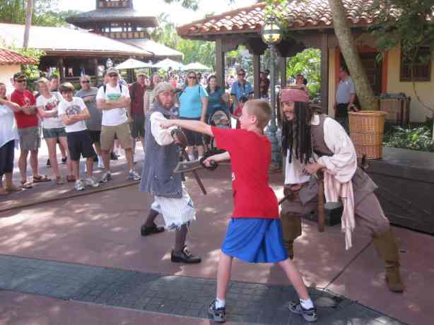 My son battling Capt Jack in 2010