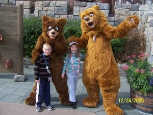 Walt Disney World, Epcot Characters, Canada Pavilion, Koda and Kenai from Brother Bear