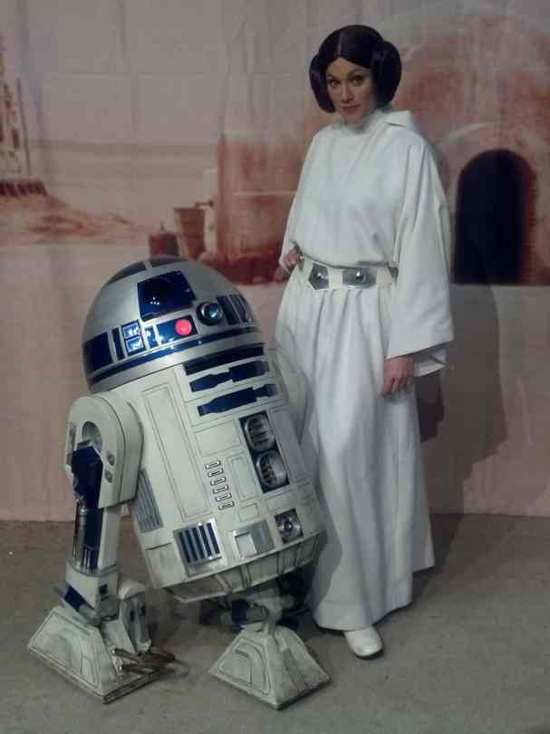 Leia Organa and R2-D2 at Star Wars Weekends 2012