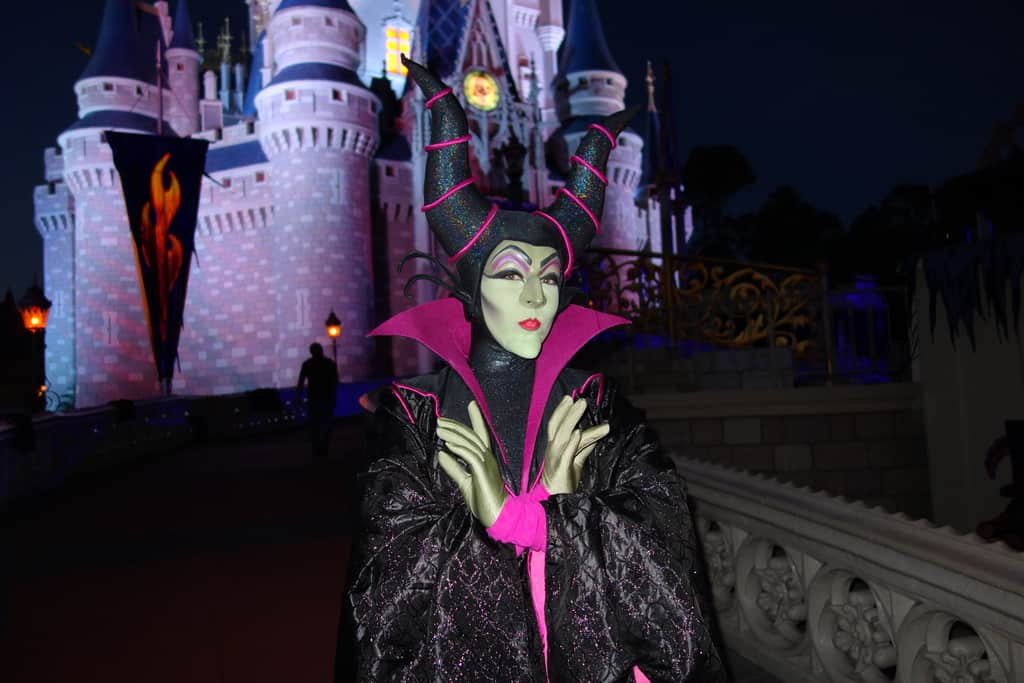 Maleficent face character receives new look for in park meets maleficent at the villains bash 2012 maleficent at mickeys not so scary halloween party 2012 m4hsunfo