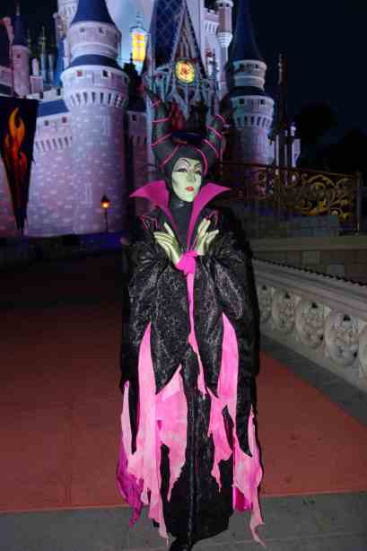 Maleficent at Mickey's Not So Scary Halloween Party 2012