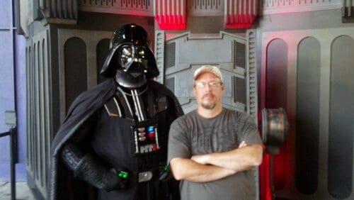 Kylo Ren replacing Darth Vader at Star Wars Launch Bay