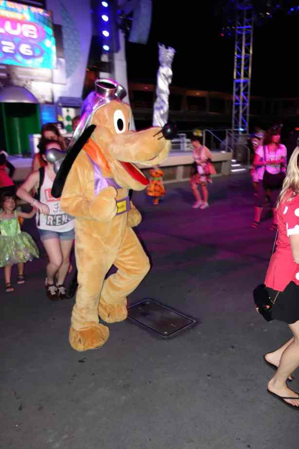 Pluto at Magic Kingdom Halloween Party 2012