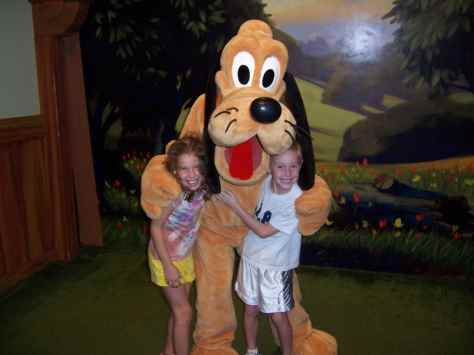 Pluto at Magic Kingdom 2006