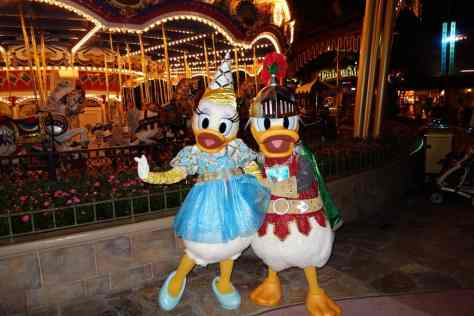 Knight Donald and Princess Daisy at Mickey's Halloween Party - September 2012