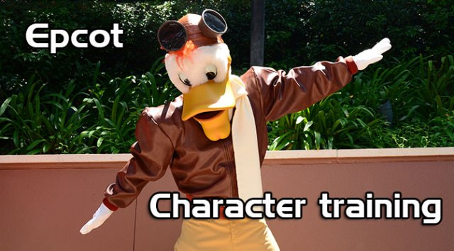 Epcot Character training meets