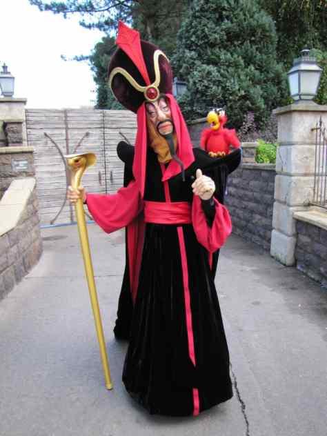Jafar with Iago at Disneyland Paris  copyright EuroRob