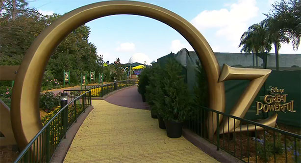 Entrance to the new Land of Oz play area.