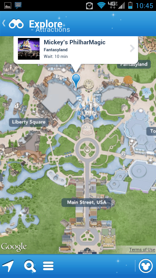 My Disney Experience Map