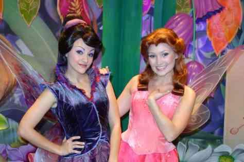 Walt Disney World, Magic Kingdom, Tinker Bell's Nook, Vidia, Rosetta, Meet and Greet