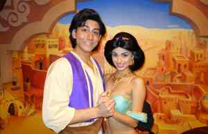 Aladdin and Jasmine in Epcot 2013