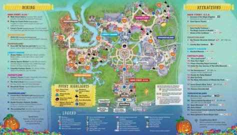 Mickey's Not So Scary Halloween Party Map 2017 Back