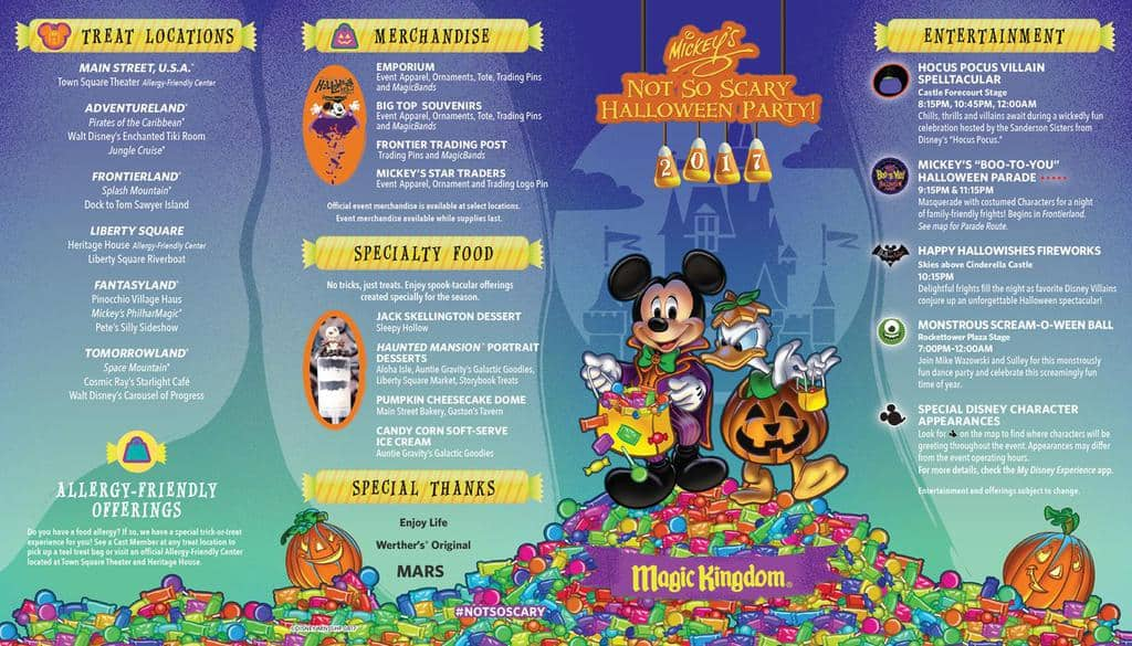 Mickey's Not So Scary Halloween Party Guide 2017