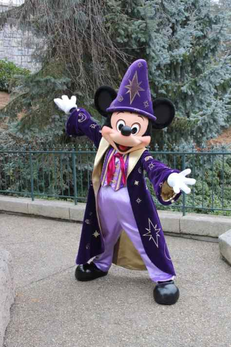 Mickey as a Sorcerer Apprentice at Disneyland Paris