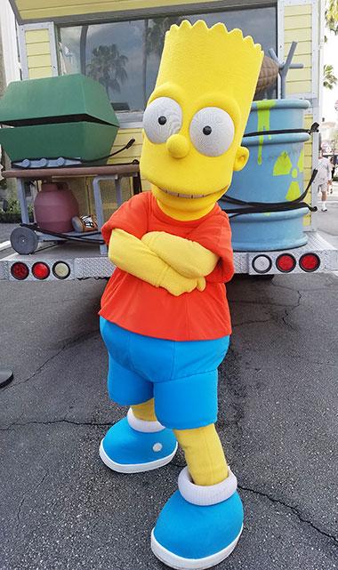 Bart Simpson meet and greet at Universal Studios Florida