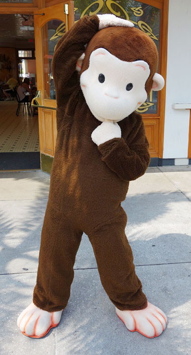 Curious George meet and greet Universal Orlando