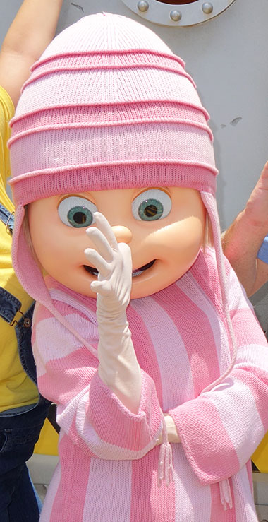 Edith from Despicable Me meet and greet at Universal Orlando