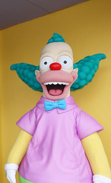 Krusty the Clown meet and greet Universal Orlando Character
