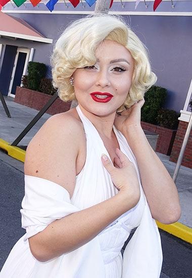 Marilyn Monroe character meet and greet at Universal Studios Florida
