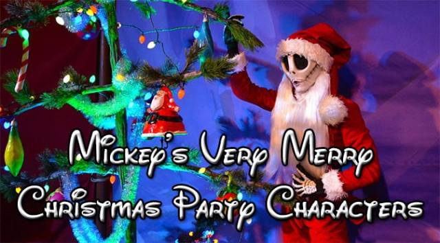 Mickey's Very Merry Christmas Party map with character locations