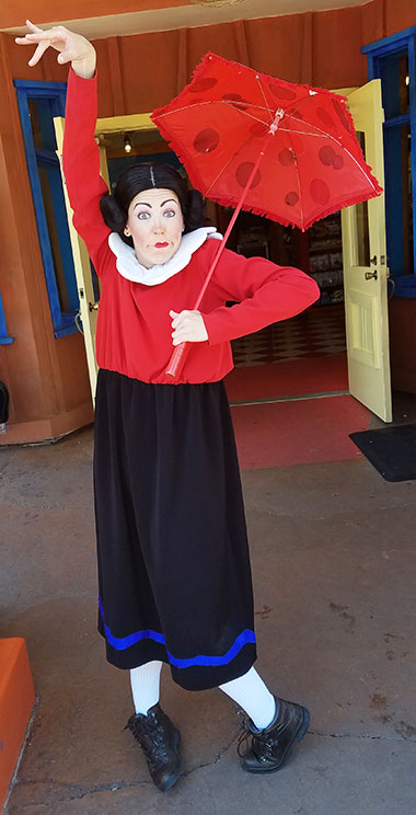 Olive Oyl Universal Orlando Islands of Adventure Characters