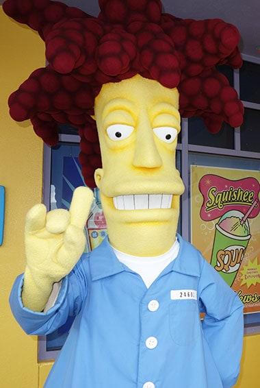 Sideshow Bob character meet and greet at Universal Orlando