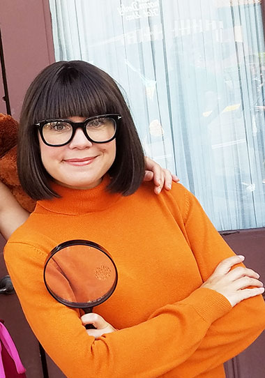 Velma from Scooby Doo character meet and greet at Universal Studios Florida