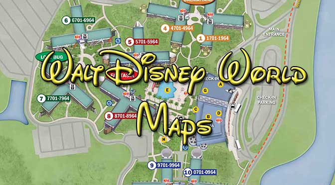 Walt Disney World Resort Maps - KennythePirate.com