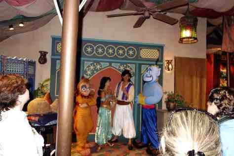 Aladdin, Jasmine, Genie and Abu at 11:05 PM