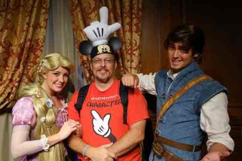 Princess Fairytale Hall Walt Disney World Magic Kingdom Rapunzel and Flynn