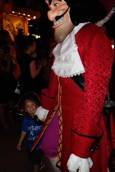 Capt Hook was escorted by this cute little, starry-eyed kid at the end of the night