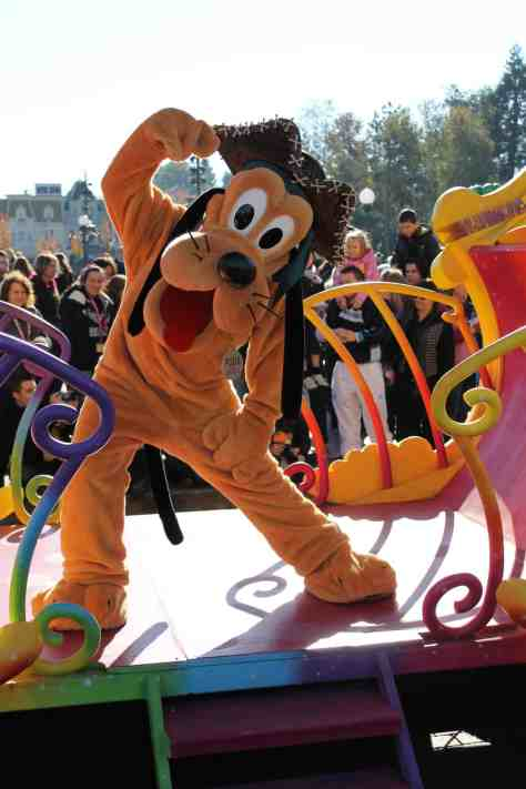 Pluto wearing a Pirate hat; this was during a special version of the Character Express on the 31st of October 2012.