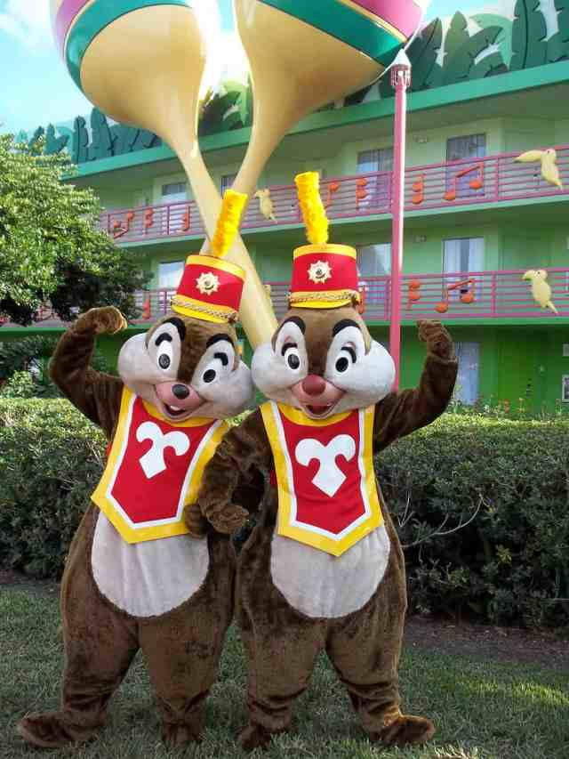 Walt Disney World, Character Meet and Greet, Halloween, All Star Music, Chip n Dale