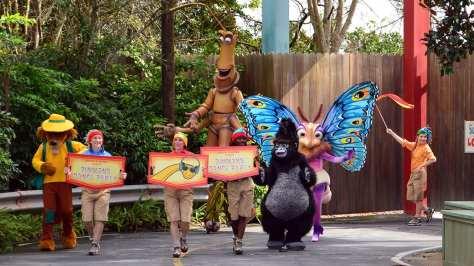 Walt Disney World, Disney's Animal Kingdom, Dinoland Dance Party, Slim, Gypsy, Terk, Brer Fox