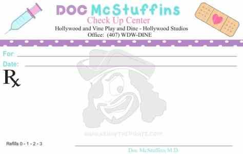 Doc McStuffins prescription, kenny the pirate