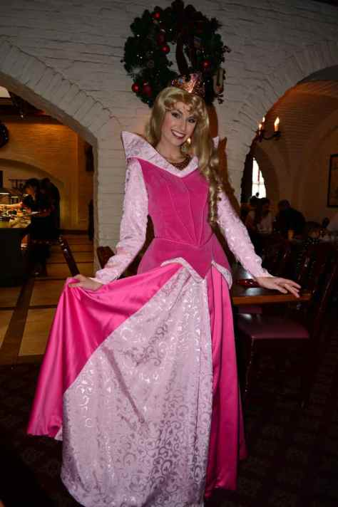 Walt Disney World, Epcot, Akershus Royal Banquet Hall, Princess Character Meal, Aurora, Briar Rose, Sleeping Beauty