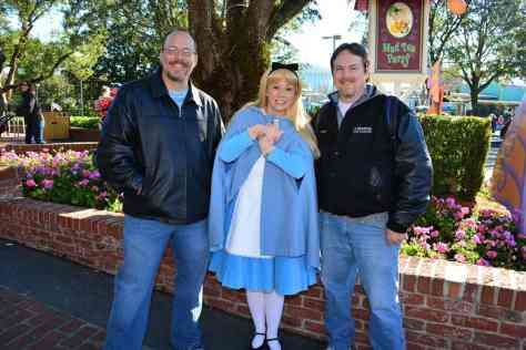 Walt Disney World, Magic Kingdom, Fantasyland, Mad Tea Party, Alice in Wonderland, Meet and Greet