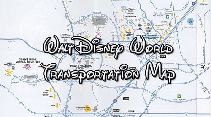 Walt Disney World Transportation Maps - KennythePirate.com