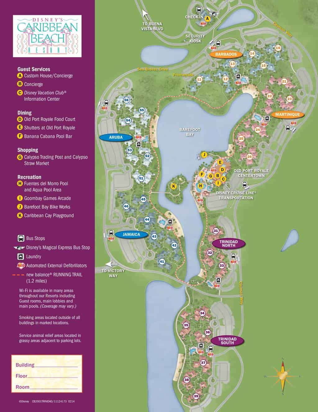 Caribbean Beach Resort Map KennythePiratecom
