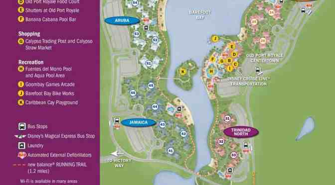 Caribbean Beach Resort Map - KennythePirate.com