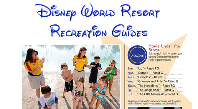 Walt disney world resort recreation guides kennythepirate walt disney world resort recreation guides publicscrutiny Images