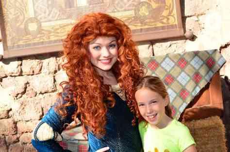 Merida at the Magic Kingdom in Disney World